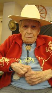 elder cowboy with grumpy face