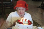 Ina hinds at 105 birthday party in Las Vegas Nevada