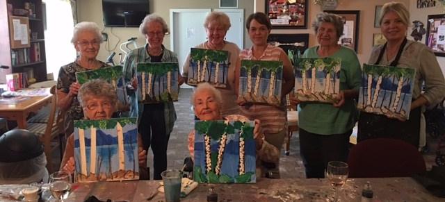 elders painting class