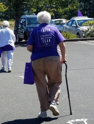 Elder participating in the Relay for Life in Florence, Oregon at Shorewood Senior Living